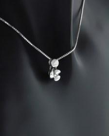 Κολιέ λευκόχρυσο Κ18 με Διαμάντι