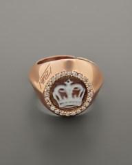 Δαχτυλίδι ασημένιο με Cameo και ζιργκόν