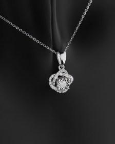 Μενταγιόν λευκόχρυσο Κ18 με Διαμάντια