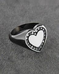 Δαχτυλίδι chevalier λευκόχρυσο Κ14 με Ζιργκόν