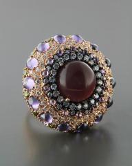 Δαχτυλίδι από ορείχαλκο με Ορυκτή πέτρα & Ζιργκόν