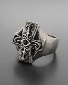 Ασημένιο 925 δαχτυλίδι επίχρυσο μοτίφ με γρανάδα