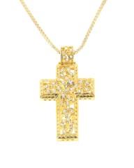 Σταυρός χρυσός Κ18 με Διαμάντια