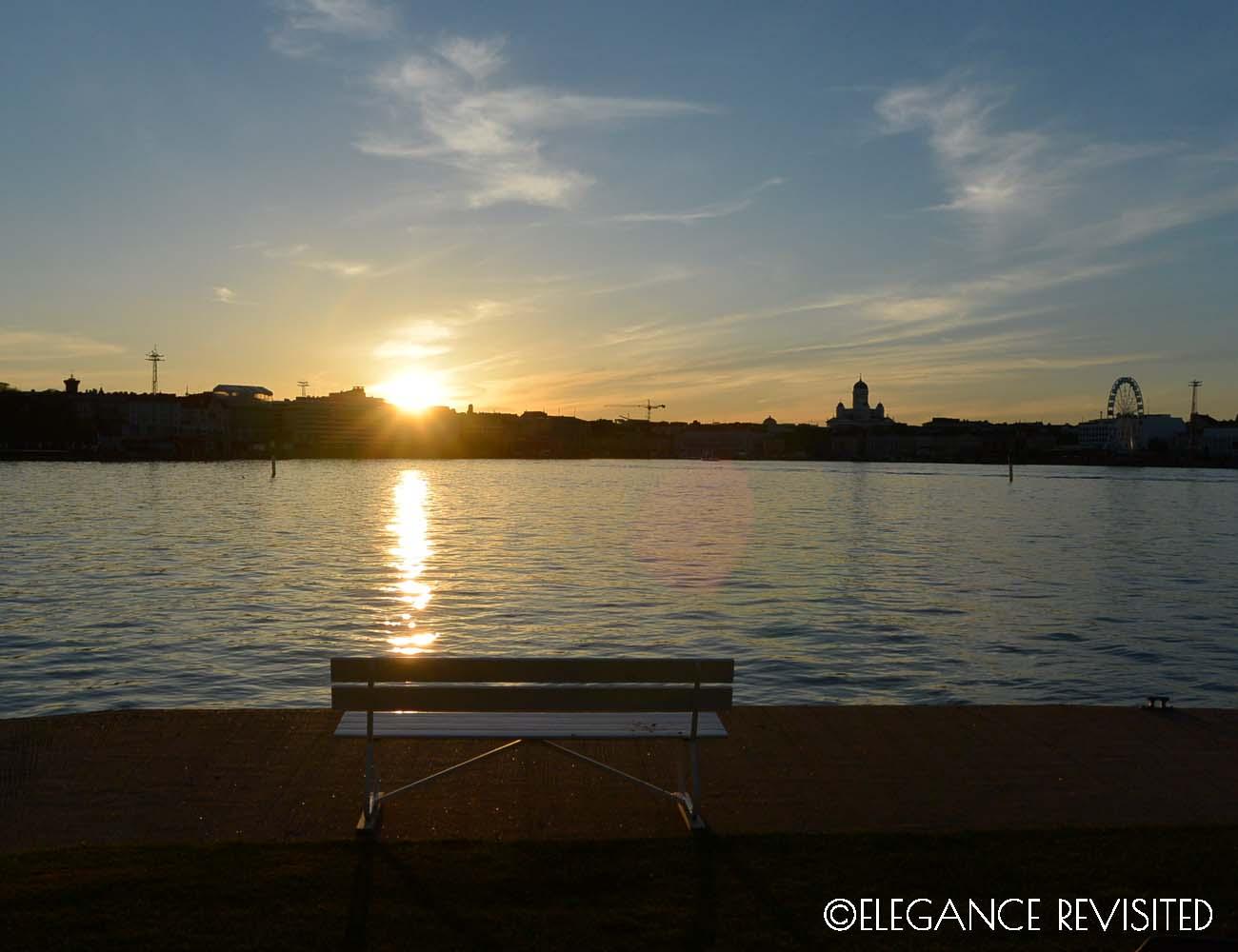 sunset over Helsinki