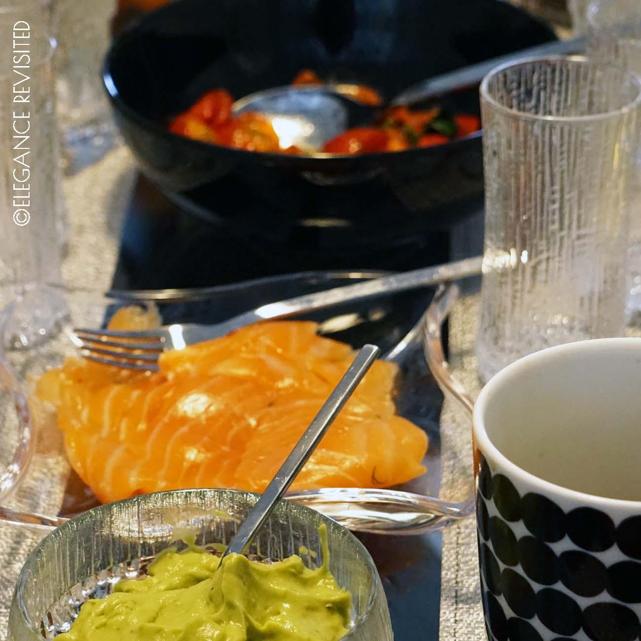 luxury breakfast at home