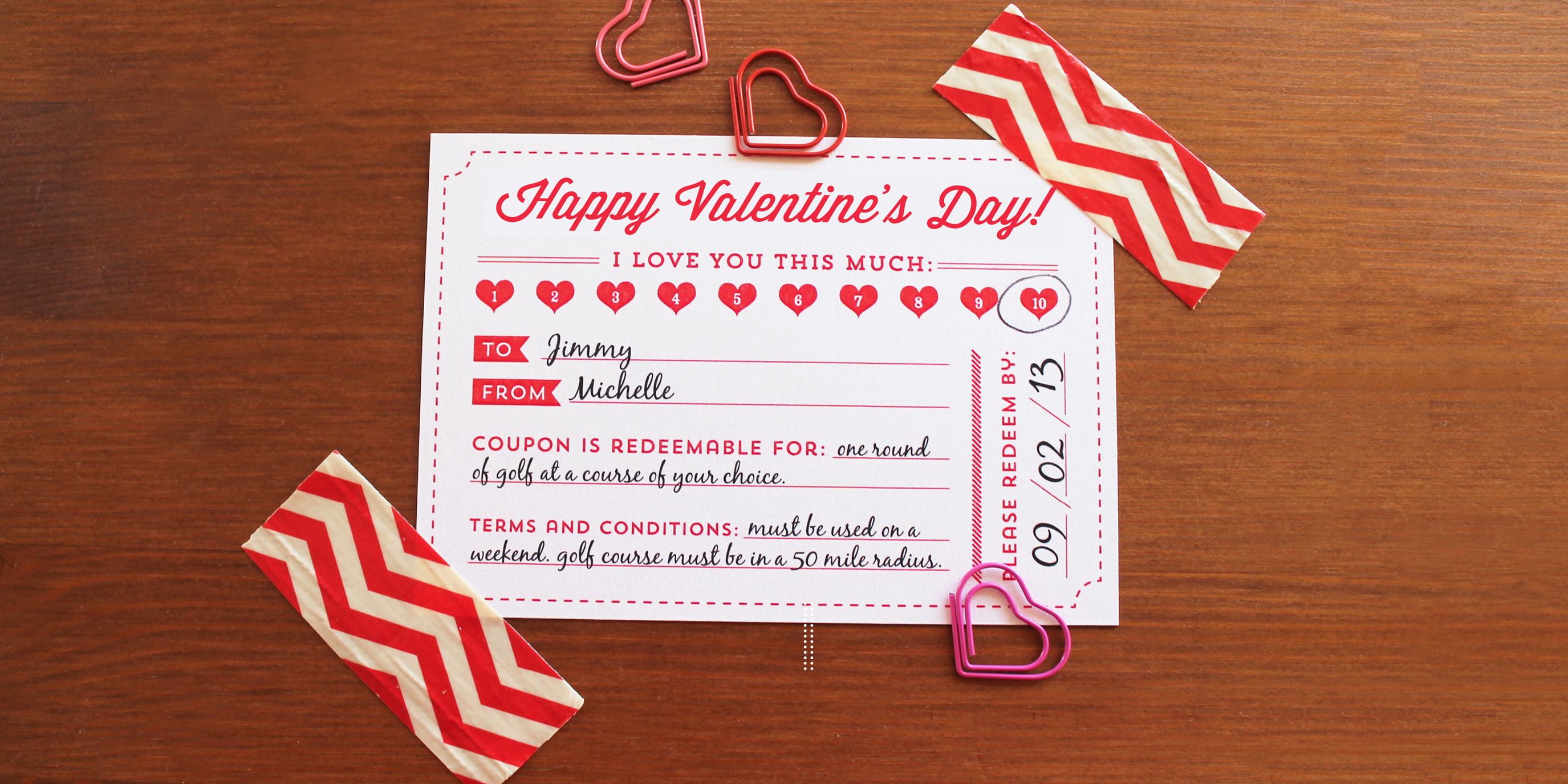 Valentines Day Coupon Free Printable