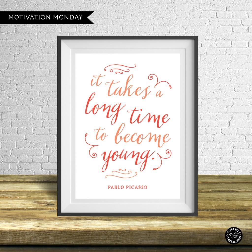 Motivation Monday Free Printable Pablo Picasso