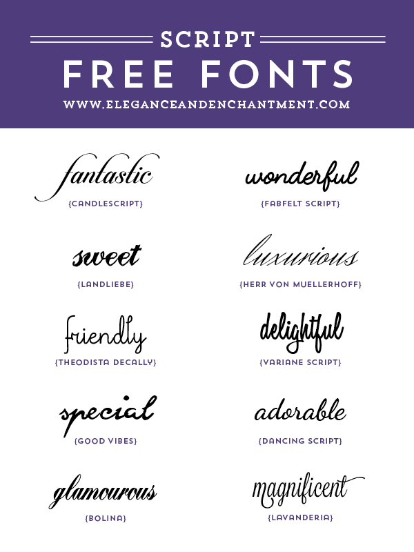 Free Script Fonts For Wedding Invitations Graphic Design Projects Web Diy