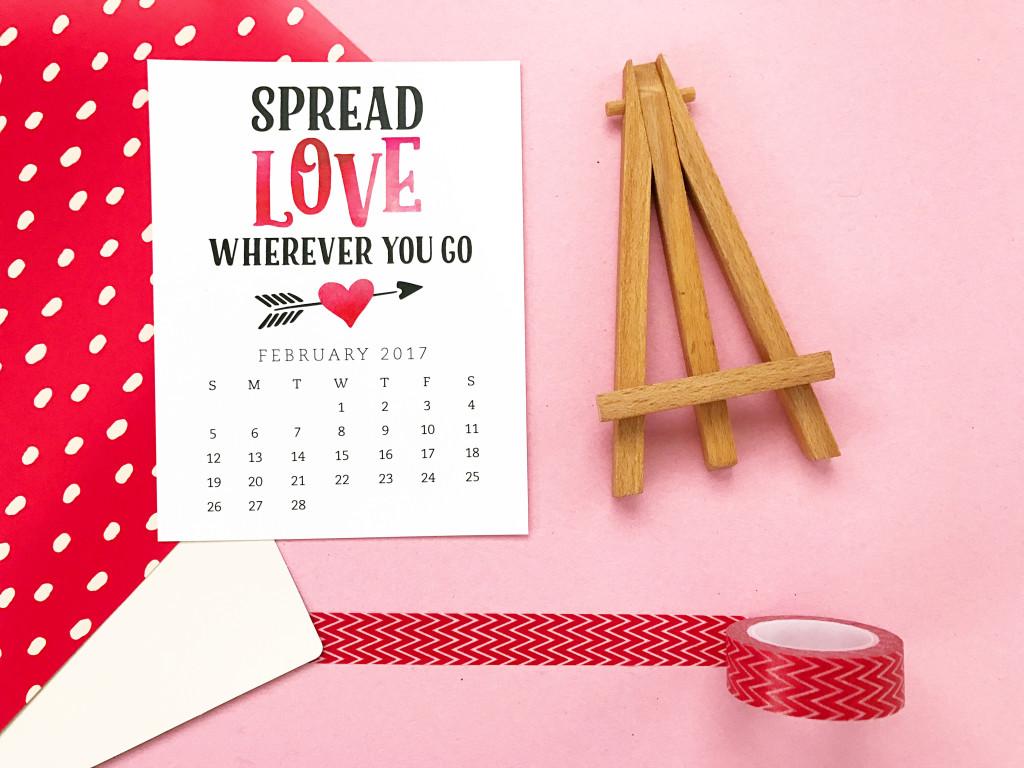 Free Printable February Calendar