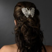 silver-plated butterfly barrette