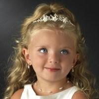 Crystal & Ivory Rum Flowergirl Tiara - Elegant Bridal Hair ...