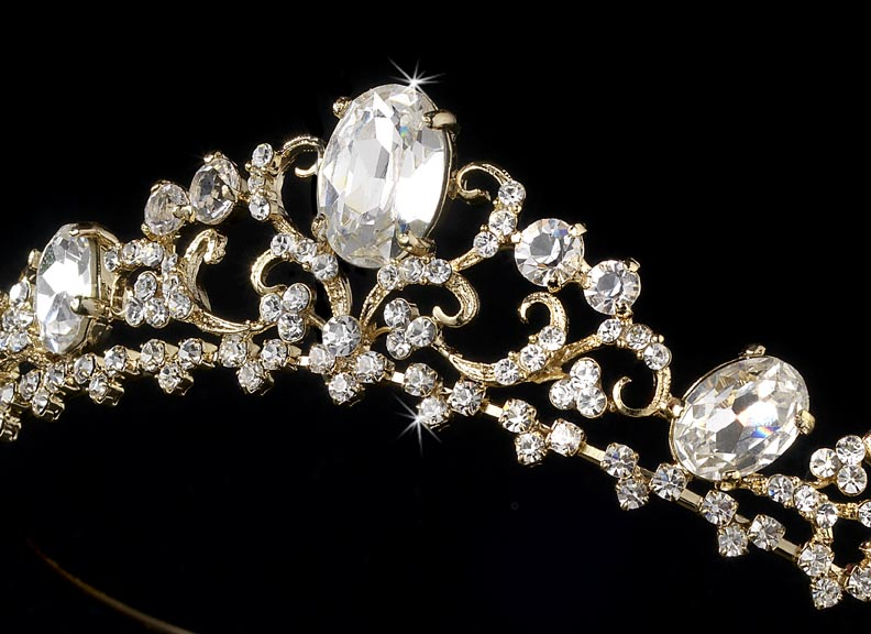 Royal Crown Rhinestone Bridal Tiara Elegant Bridal Hair