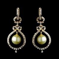 Glamour Pearl Dangle Earrings - Elegant Bridal Hair ...