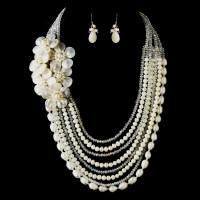 Ivory Pearl & Austrian Crystal Wedding Jewelry - Elegant ...