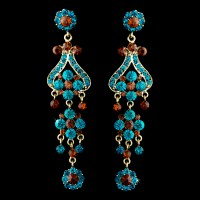Paris Couture Antique Chandelier Earrings - Elegant Bridal ...