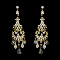 Romantic Vintage Wedding Chandelier Earrings