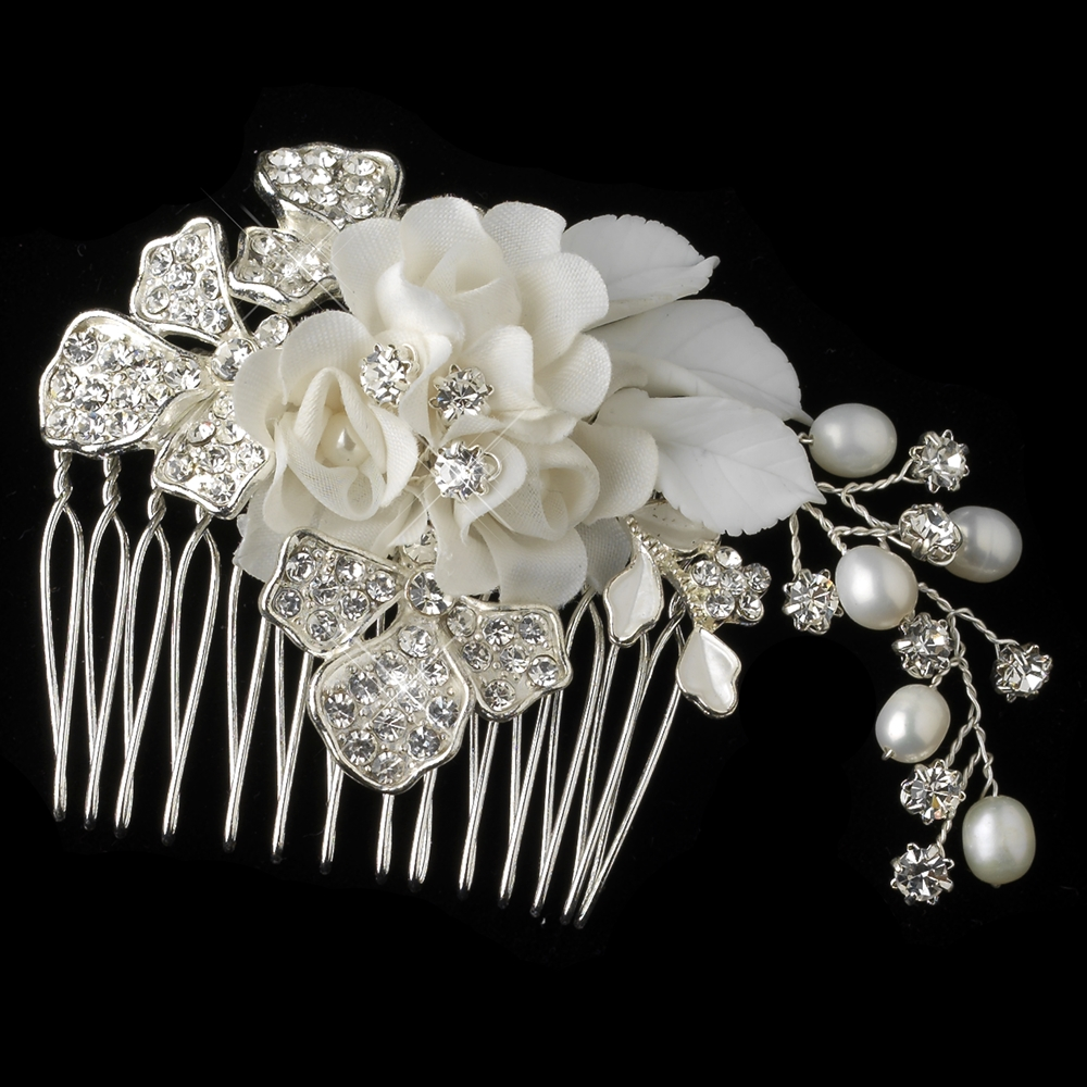 Cameron Floral Bridal Comb Elegant Bridal Hair Accessories