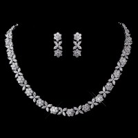 Hermaine CZ Necklace & Earring Set