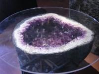Brazilian Amethyst Geode Table - Elegant Crystals & Gems