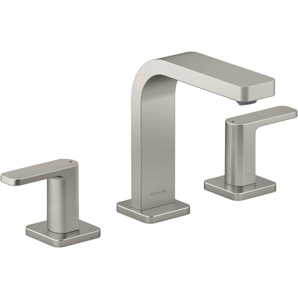 parallel widespread bathroom sink faucet with lever handles