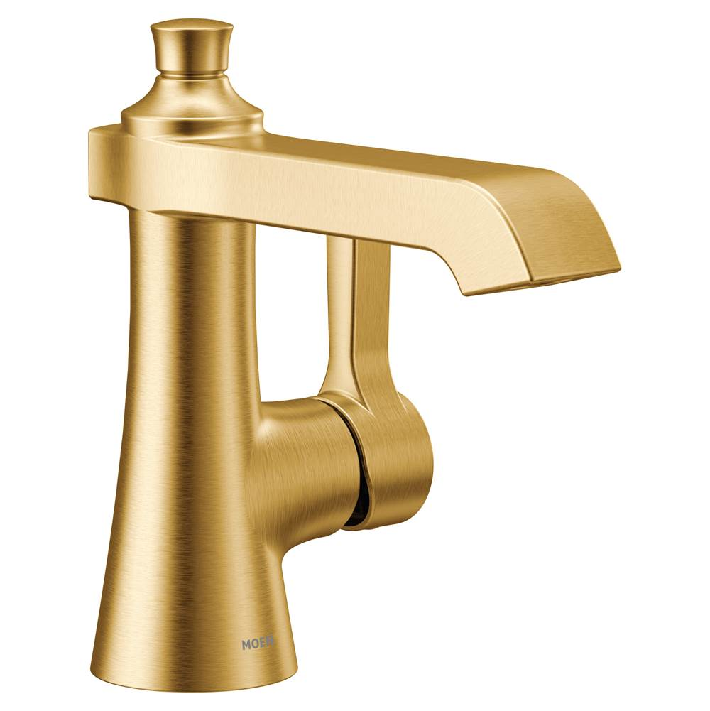 brushed gold one handle bathroom faucet