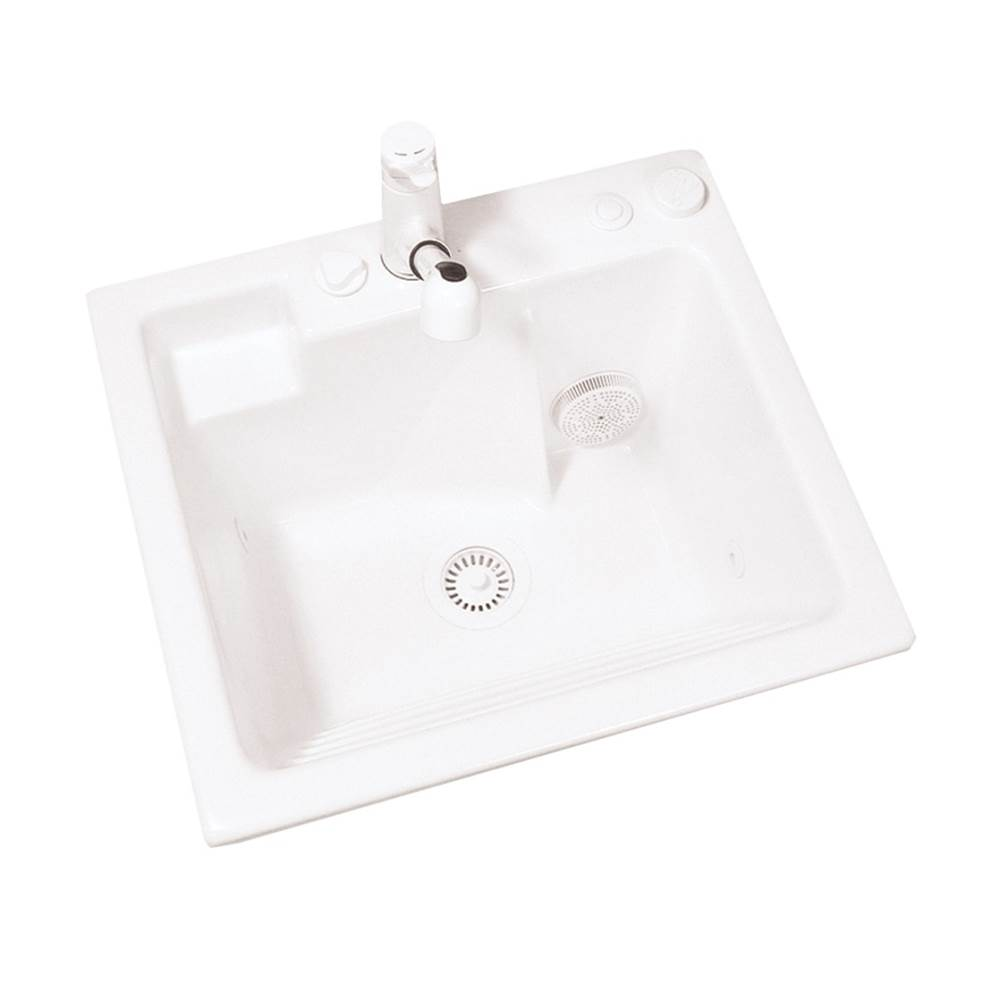 biscuit jentle jet laundry sink with washboard front