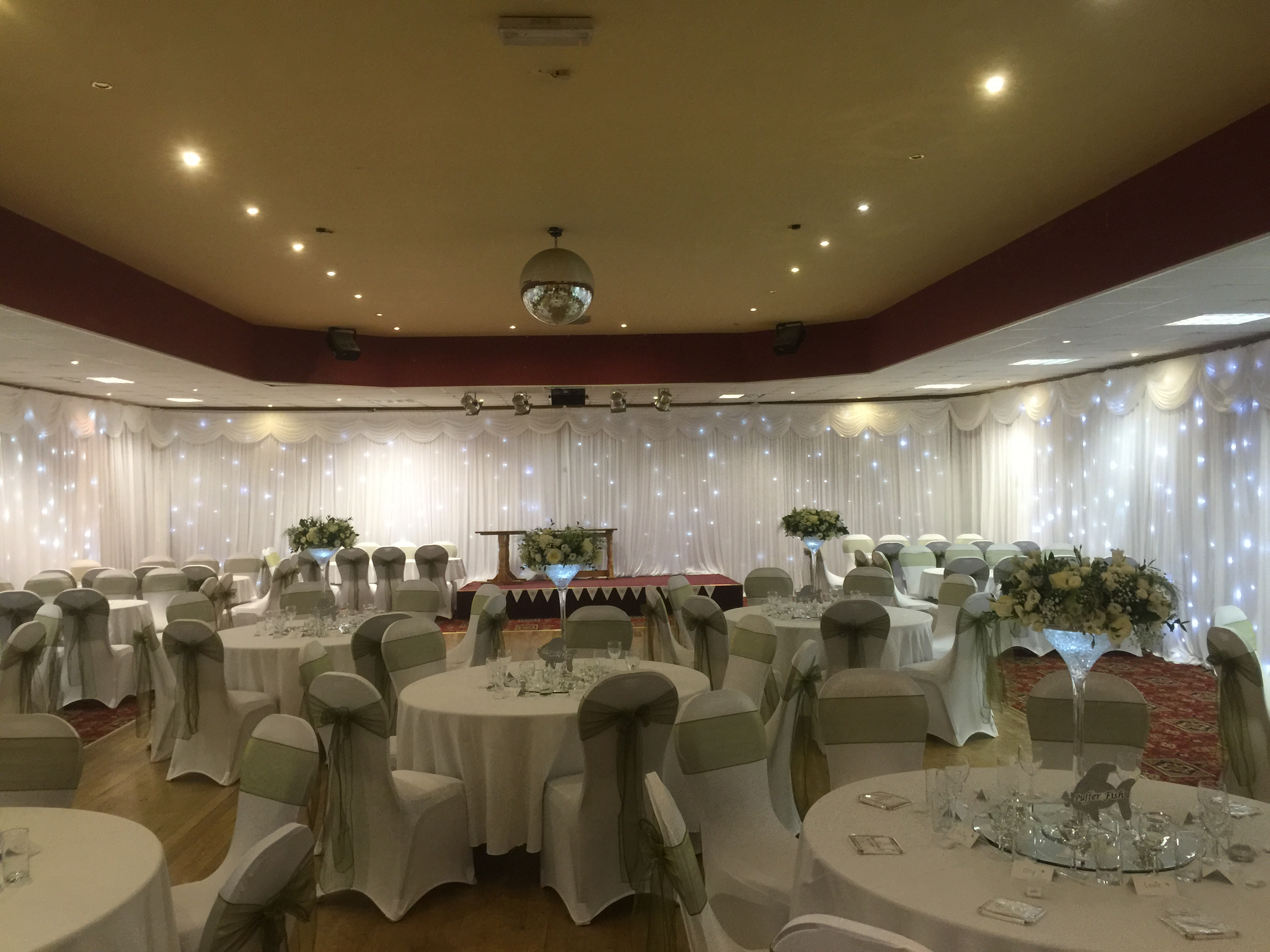 chair cover hire wigan la z boy office canada wall drapes liverpool cheshire manchester