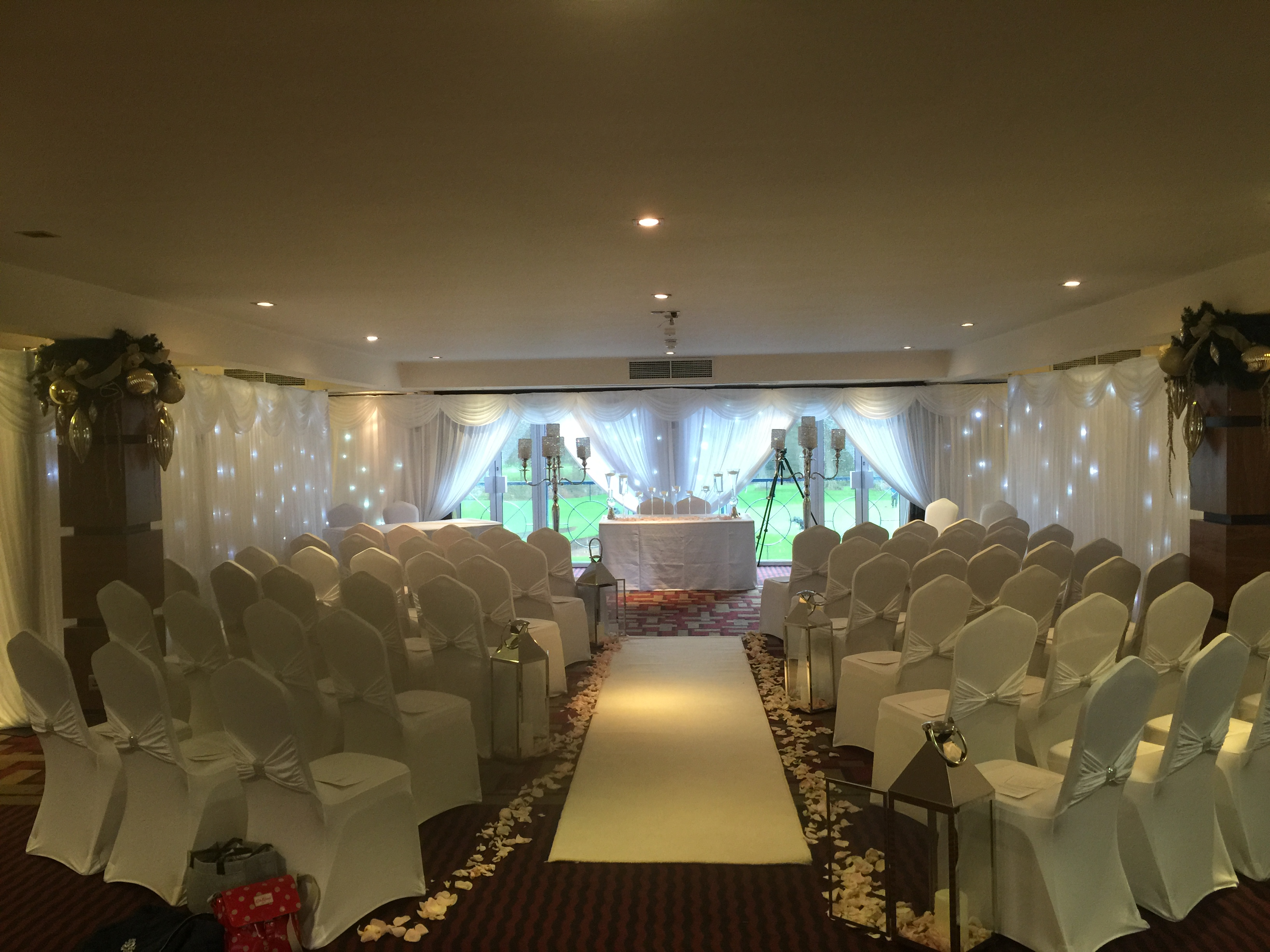 chair cover hire wigan chicco hook on highchair recall wall drapes liverpool cheshire manchester