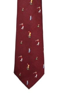 Golf Tie - Golfing Necktie - Elegant Extras
