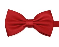 Plain Bright Red Bow Tie - Elegant Extras