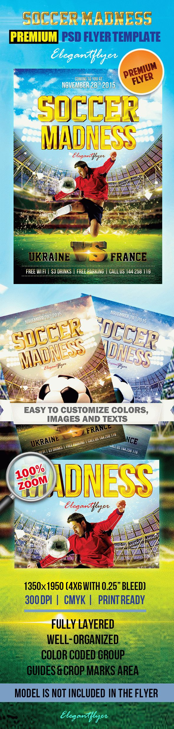 Collection Of Sports Flyer Templates On Behance, 22 Football Flyer Templates  Free Psd Eps Ai Indesign Word, Soccer Championship Flyer Flyers Soccer Flyer