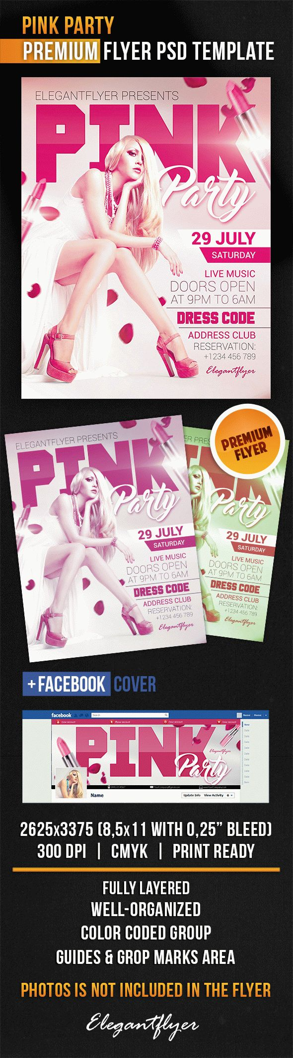 Pink Party – Flyer Psd Template