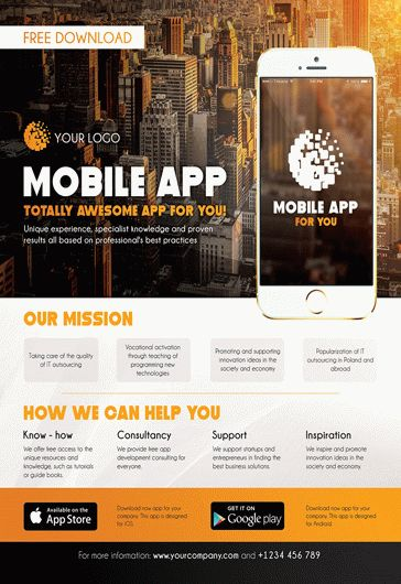 Mobile App Promotion  Flyer PSD Template  by ElegantFlyer