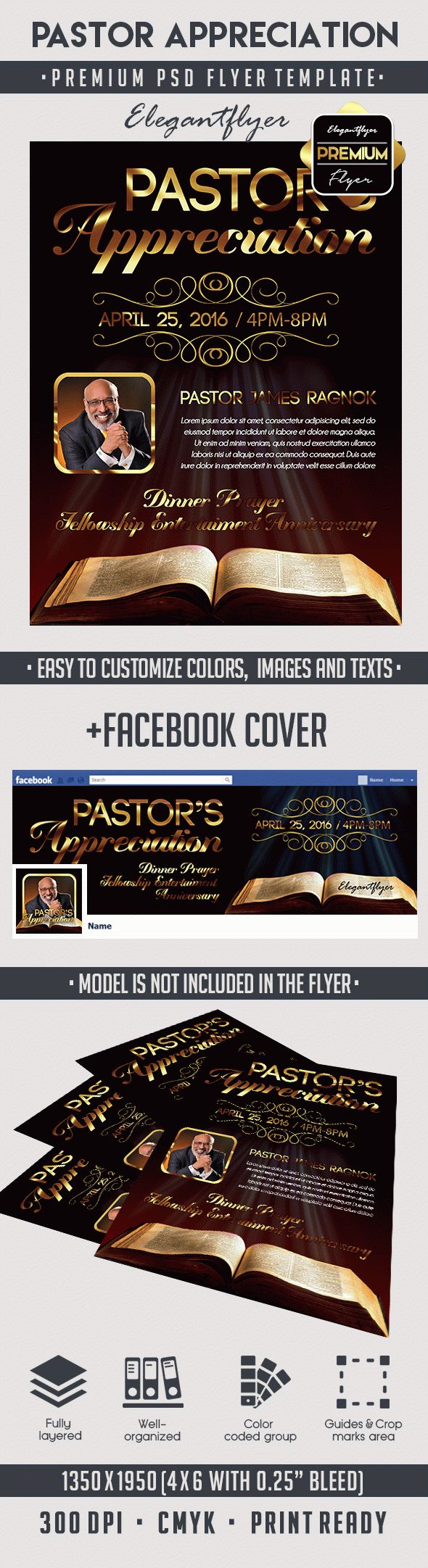 Pastor Appreciation – Premium Flyer PSD Template – By