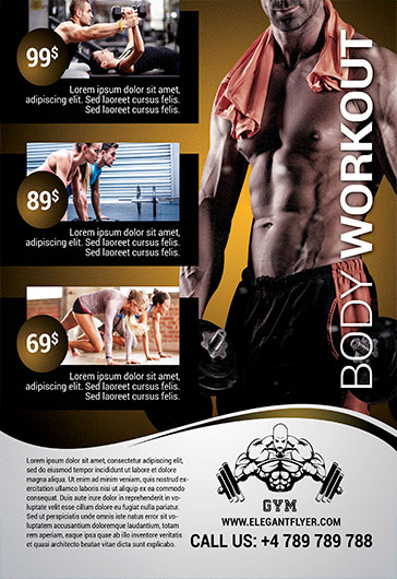 Body Workout – Flyer PSD Template – By ElegantFlyer