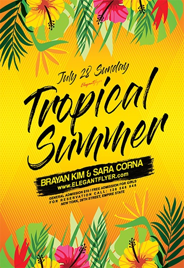 Tropical Summer Festival Flyer – By ElegantFlyer