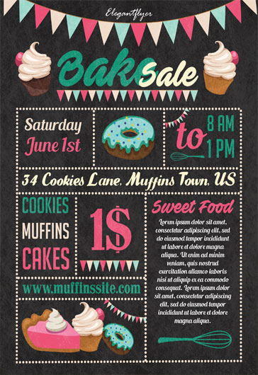 Bake Sale Free Flyer Template – By ElegantFlyer