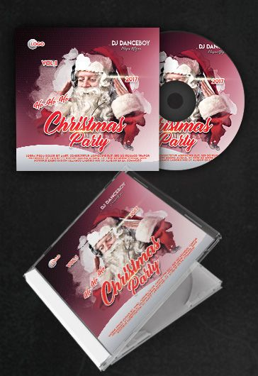 Christmas Party Free CD Cover PSD Template By ElegantFlyer