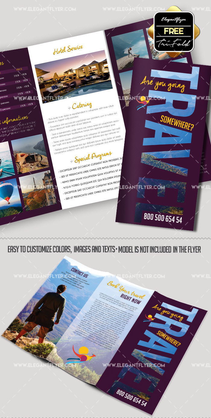 30+ Free Brochure Templates For Food, Health & Beauty And Travel