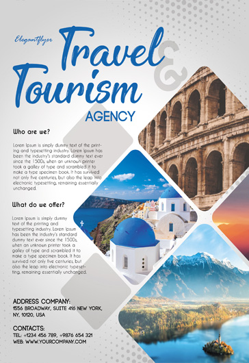 Travel and Tourism  Flyer PSD Template  by ElegantFlyer