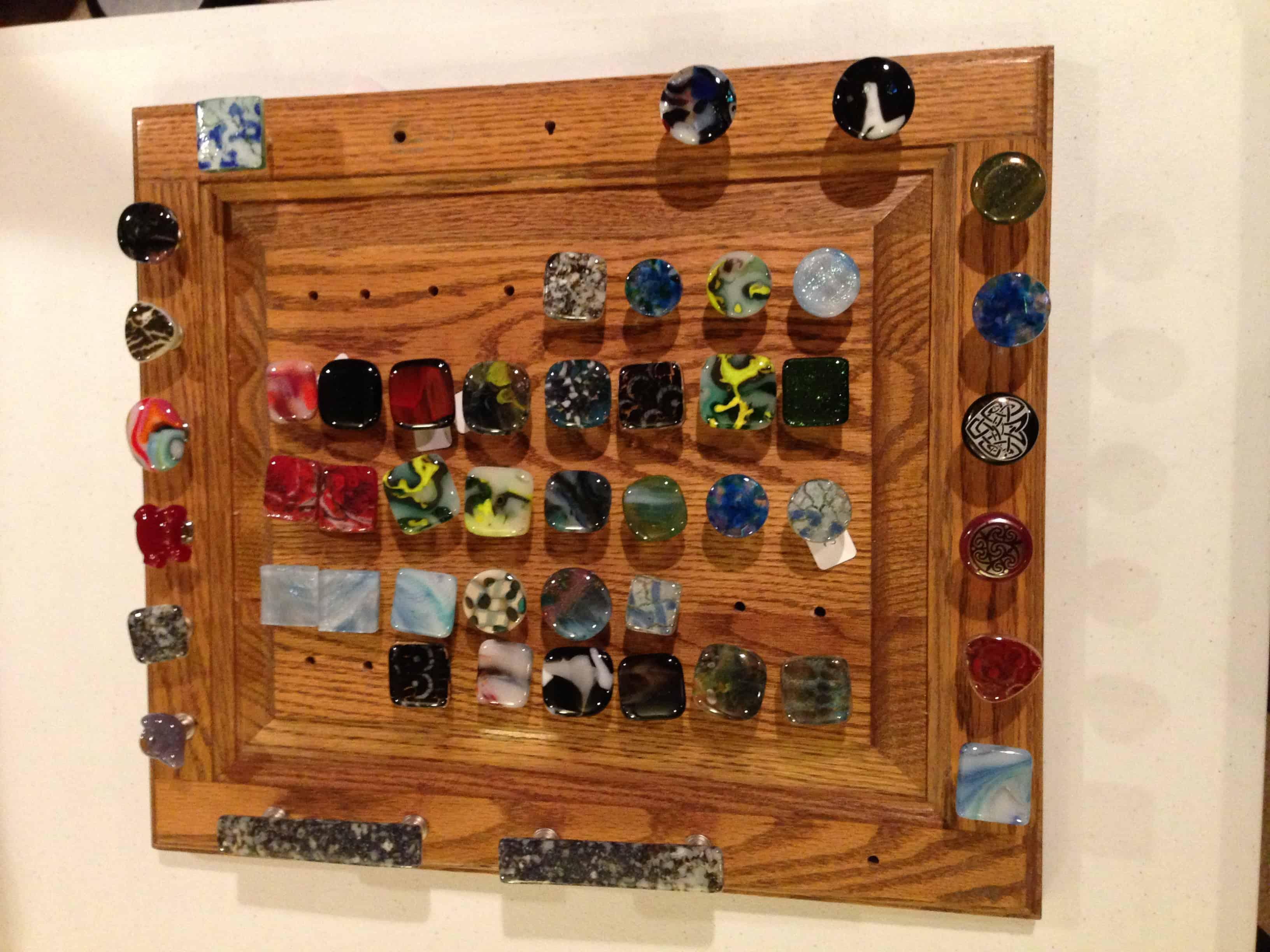 Custom Fused Glass Door Knobs Drawer Pulls Elegant Fused Glass