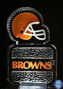 Cleveland Browns Logo Ice sculpture with Color