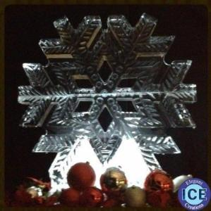snowflake ice Sculpture