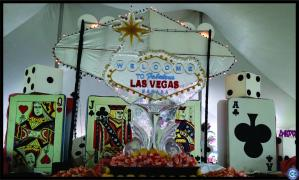 Welcome to Las Vegas ice sculpture with color