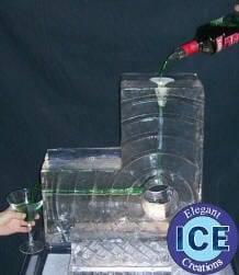 modern ice luge half block