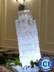leaning tower of Pisa ice Sculpture