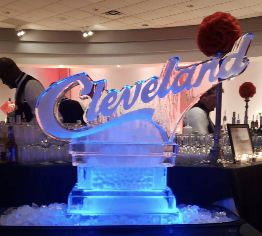 Ice Cleveland Sign 1 block