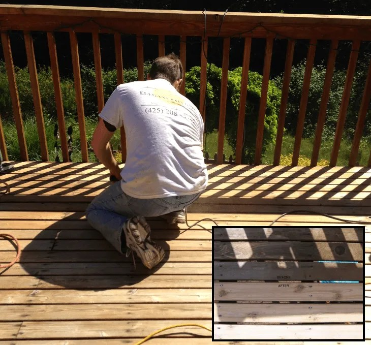 How to strip stain from deck