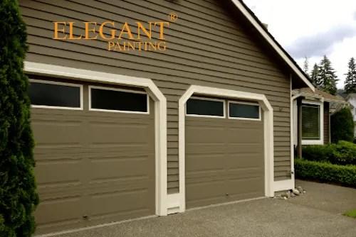painting garage door trim