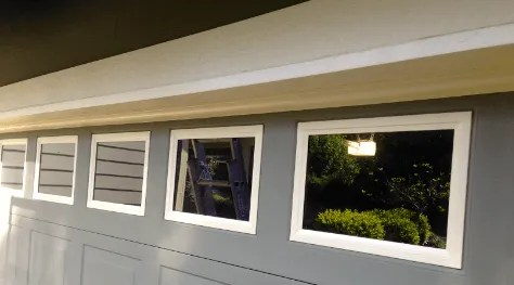 painting garage door windows